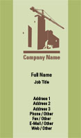 Green Construction Business Card Template